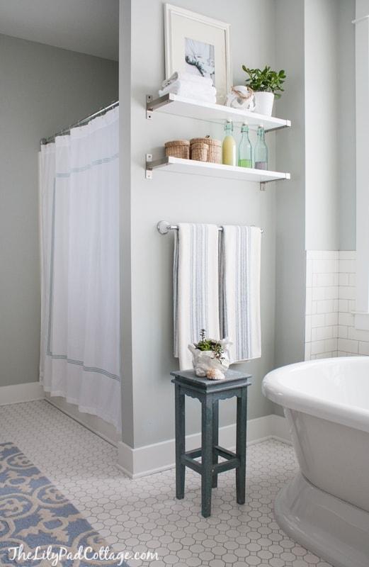 white-hex-tile-bathroom
