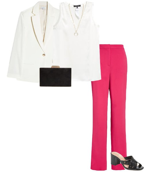 Pink and white outfit | 40plusstyle.com