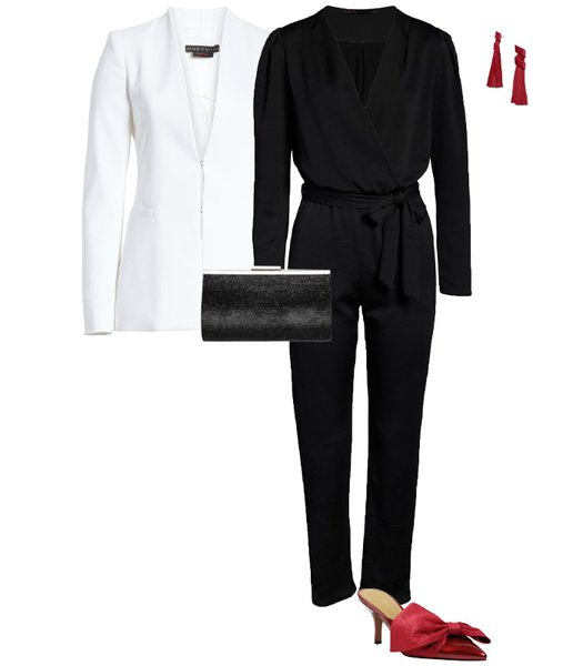 Christmas party outfit 2: Jumpsuits   40plusstyle.com