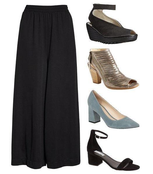 Shoes to wear with crop wide leg pants | 40plusstyle.com