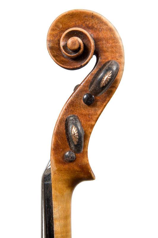 ジロラモ・アマティ1611年製バイオリンスクロール右側
