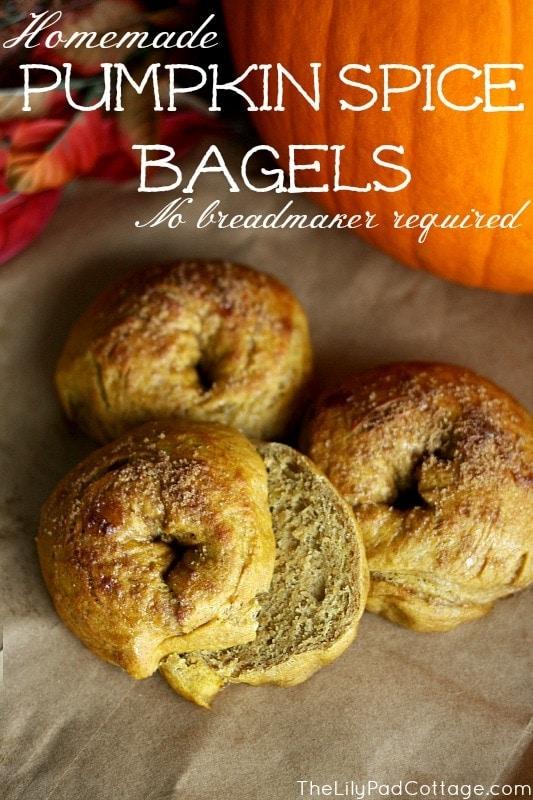 Pumpkin Spice Bagel recipe