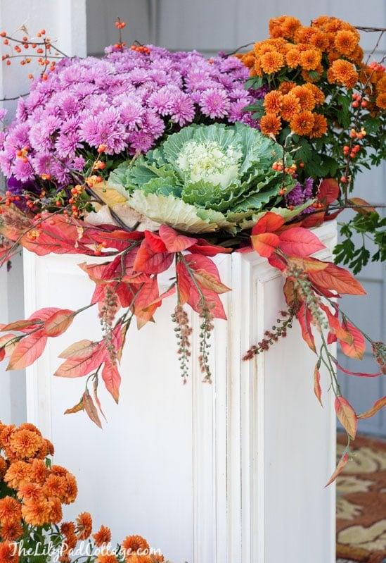 DIY Cabinet Door Flower Boxes
