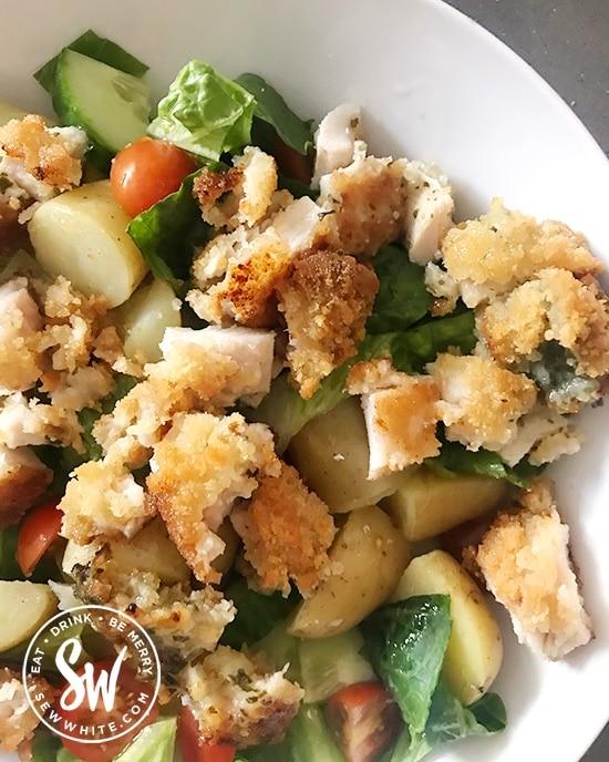 Easy midweek meal Chicken Kiev Salad