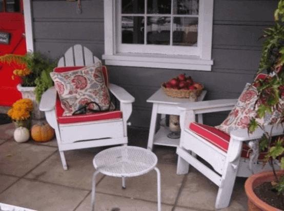 SITTING AREA RUSTIC FRONT PORCH DECOR IDEAS
