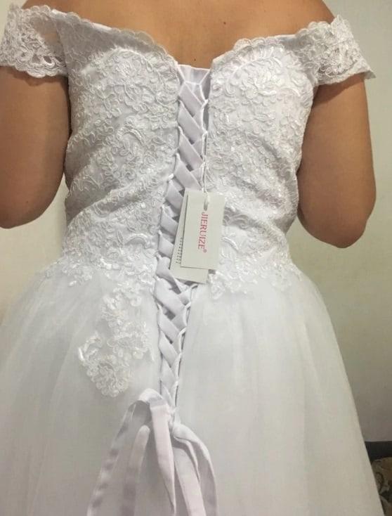 AliExpress Cheap Designer Wedding Dresses Bridal Gown Applique Dress 2