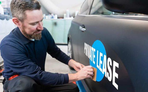 Private lease met reclame