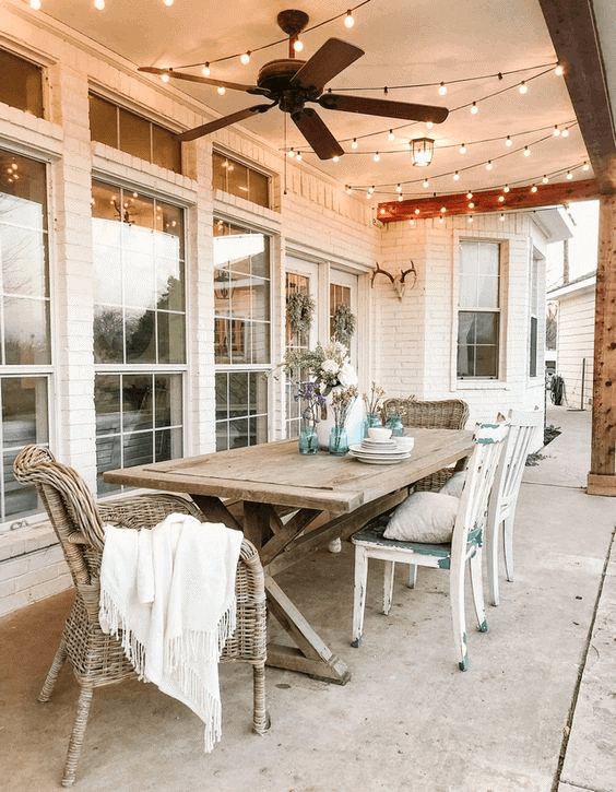 OLD LARGE DINING TABLE AND CHAIR SETS FOR FARMHOUSE PORCH DECOR IDEAS