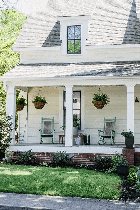 AFTER PORCH MAKEOVER WITH DRY TO WELL HYDRATED IDEAS