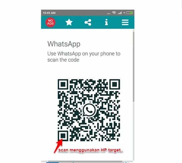 Sadap HP Android Dengan Whatsweb For Whatscan