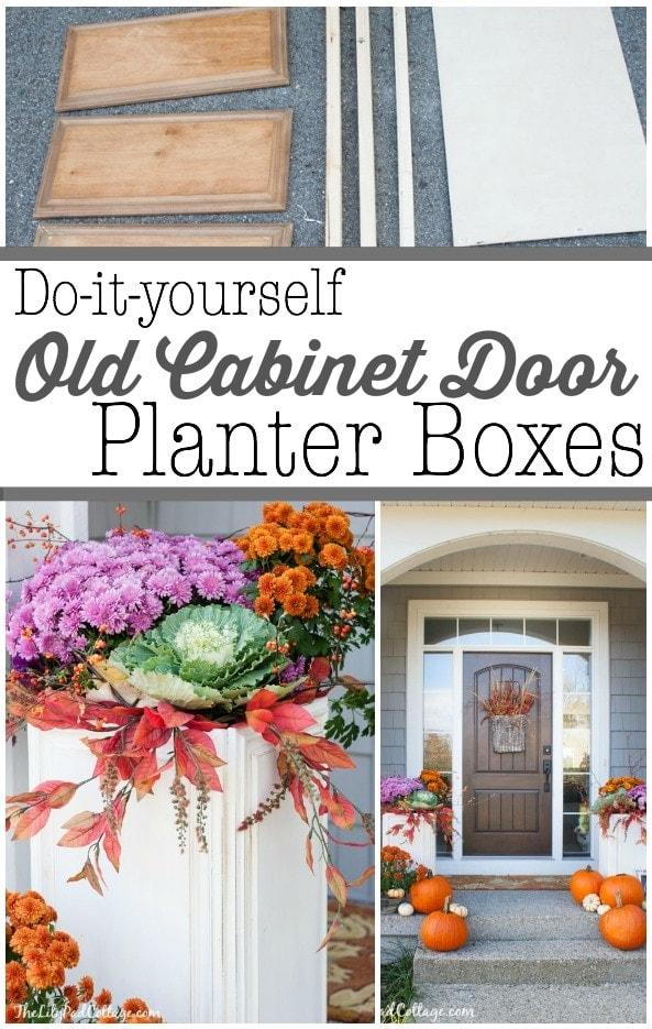 DIY Cabinet Door Planter Boxes
