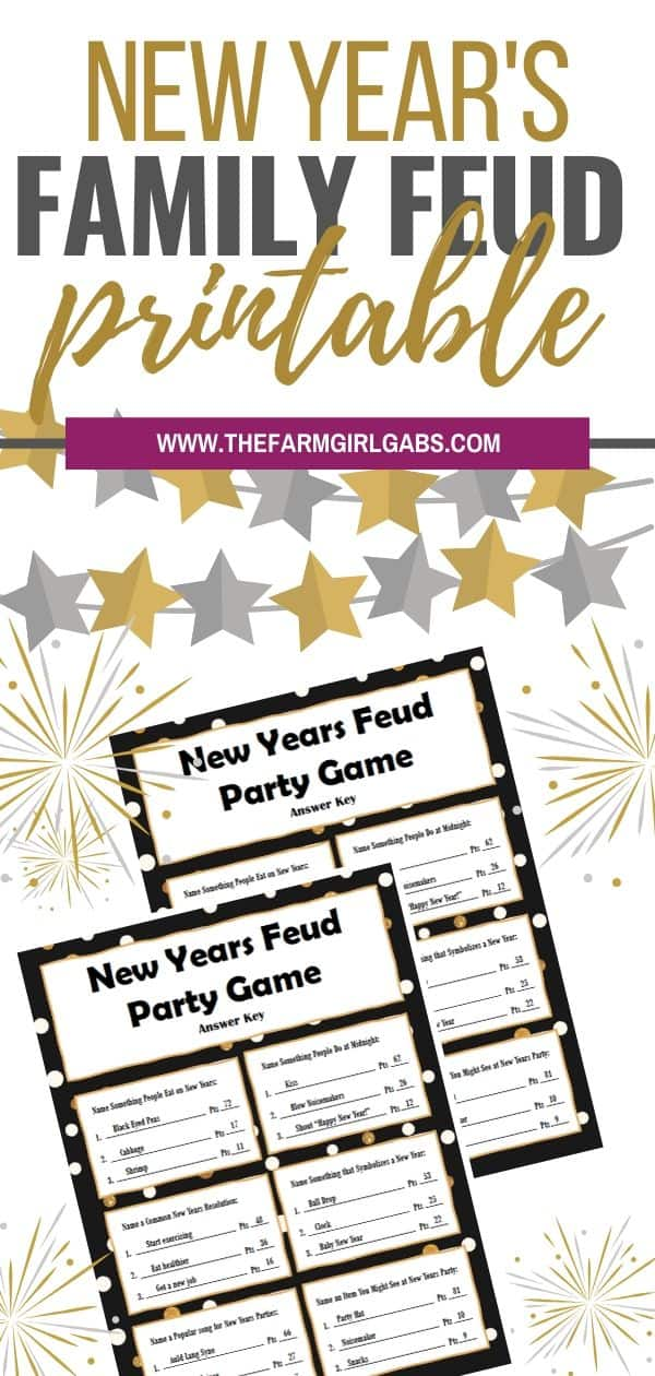 Ring in the New Year with this fun New Year's Family Feud Game you can play at home. See which family member can guess the best answer.