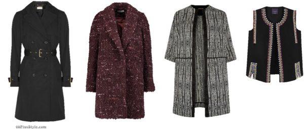 Emmanuelle Alt coat belted French Vogue | 40plusstyle.com