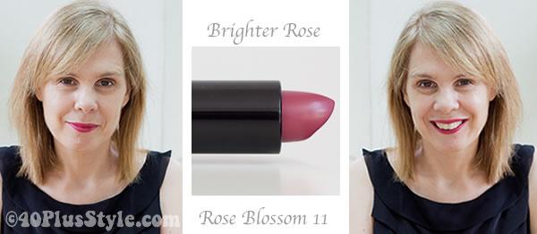 Rose blossom lipstick from Bobbi Brown cosmetics