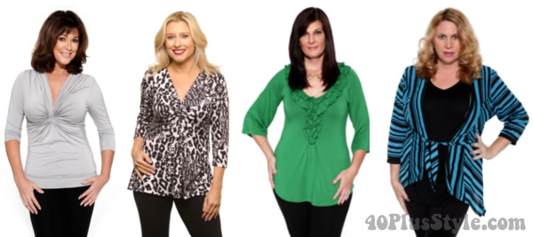 best tops for hourglas body type   40plusstyle.com
