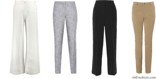How to dress like Christine Lagarde style guide: wide leg tailored pants   40plusstyle.com