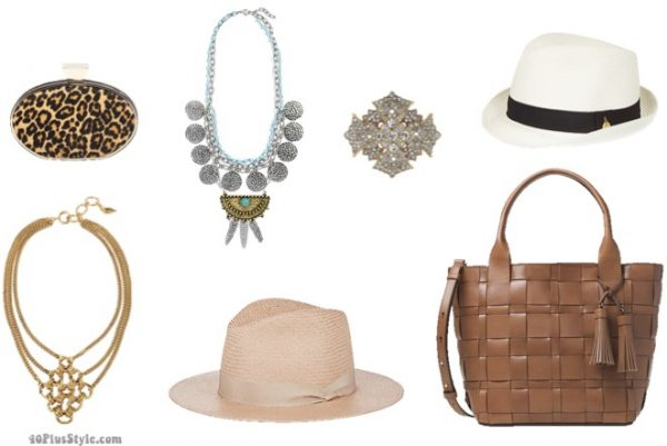 How to dress like Lauren Hutton: Lauren's signature accesories from panama hats to printed clutches  40plusstyle.com