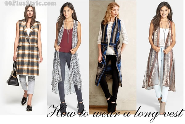wearing a long vest the bohemian chic way | 40plusstyle.com