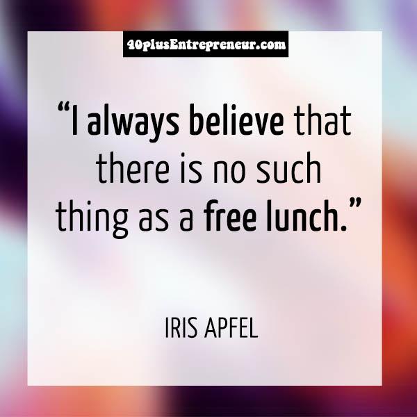 Iris Apfel personal quotes | 40plusstyle.com