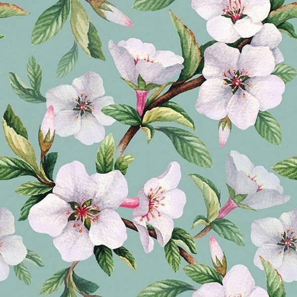 Ambiente servetten Fleur Green