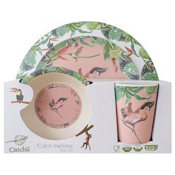 Catchii Kids Gift Set Bamboe Roze