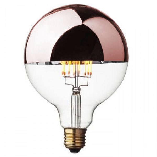 Opjet Globe retro lamp Globe Rosé Goud