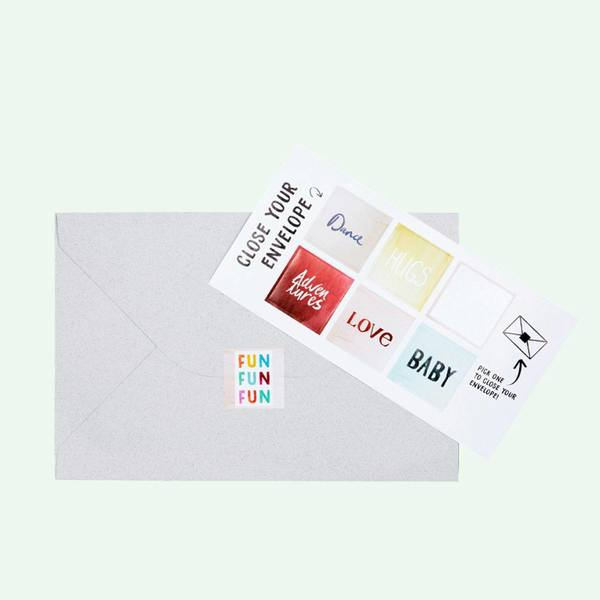The Gift Label Cut Out Cards Champagne 2