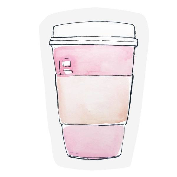 The Gift Label Cut Out Cards Coffee Cup