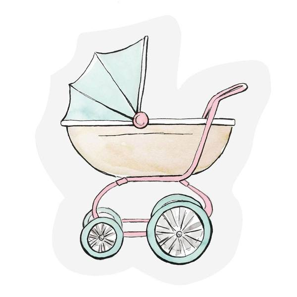 The Gift Label Cut Out Cards Stroller