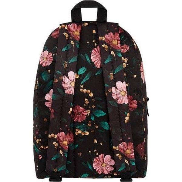 Black Flowers Backpack achterkant