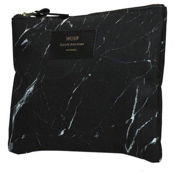 Clutch Black marble zijkant