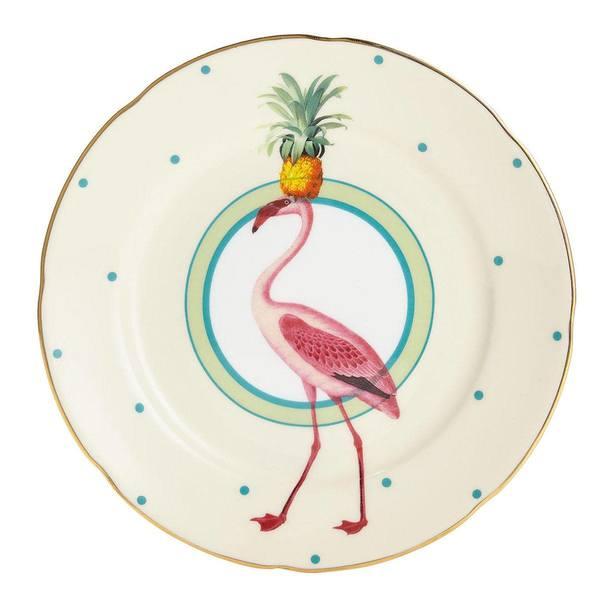 Yvonne Ellen Flamingo Cake Plate