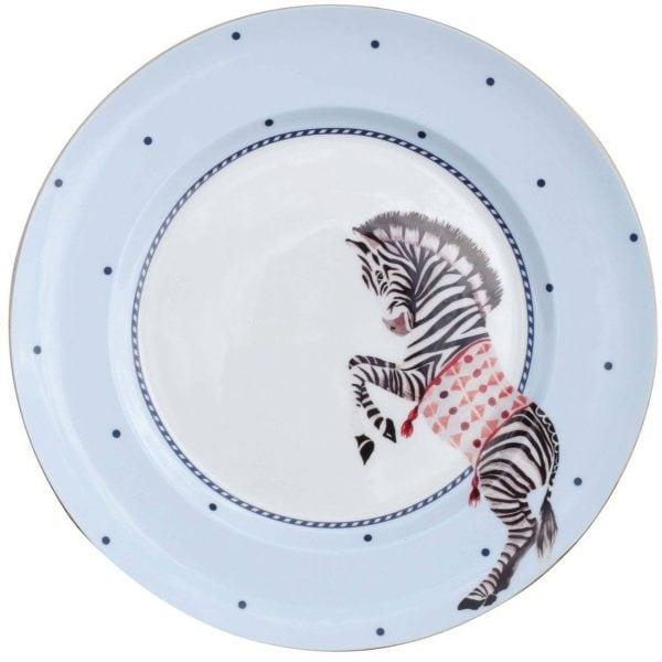 Yvonne Ellen Carnival Animal Diner bord zebra