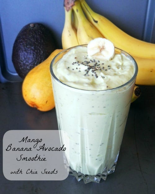 Mango Banana Avocado Smoothie