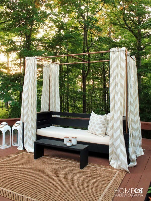 DIY SHADE COOPER CABANA PORCH AWNING IDEAS WITH SOME PRIVACY