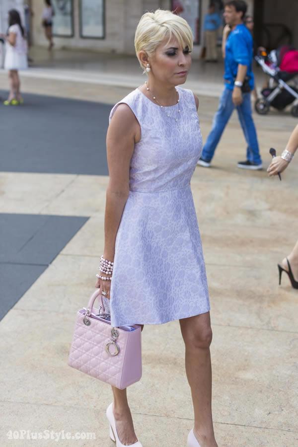 lila pastel dress   40plusstyle.com