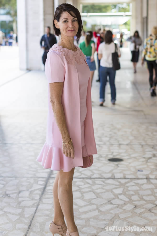 pink pastel dress   40plusstyle.com