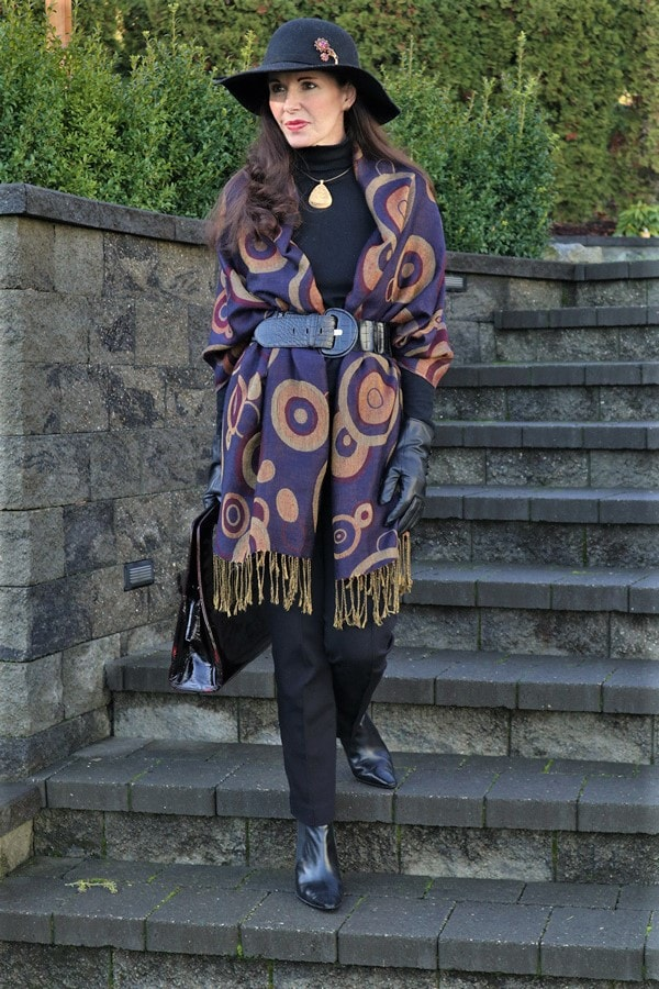 Belted wrap outfit | 40plusstyle.com