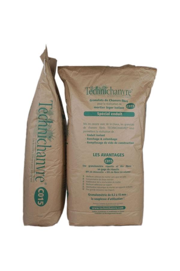 granulat fibré pour enduit C015