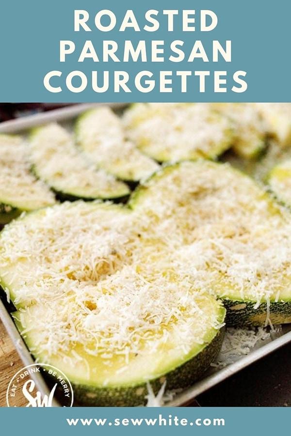 roaste parmesan courgettes