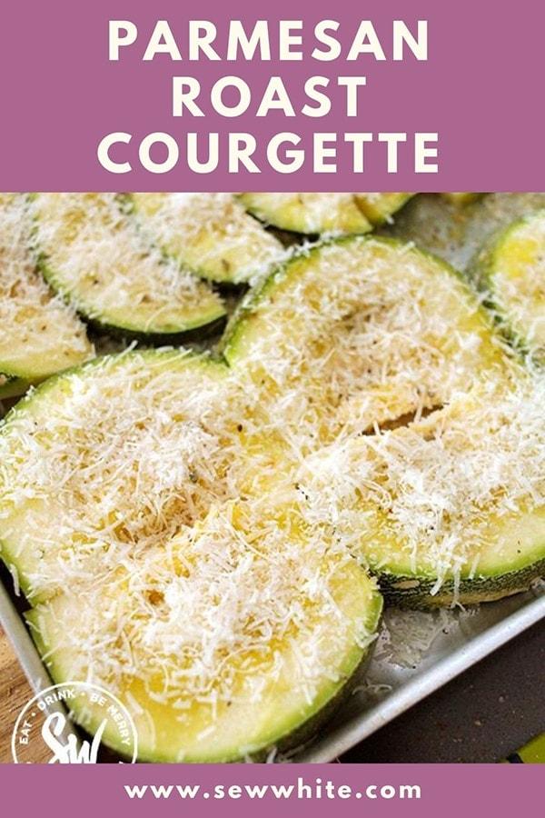 Parmesan roast courgette