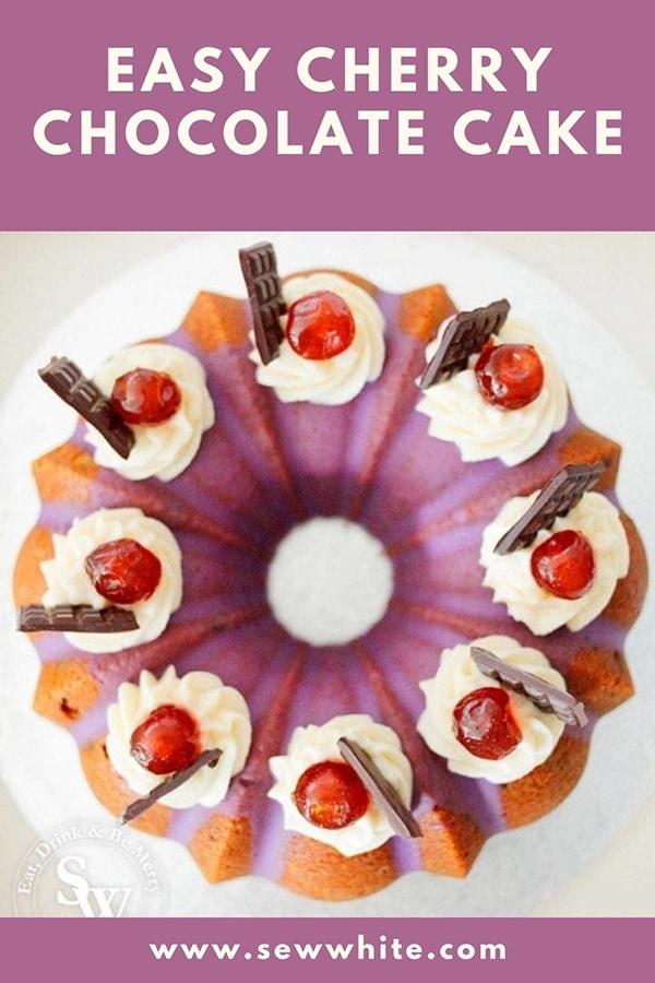 easy cherry chocolate cake