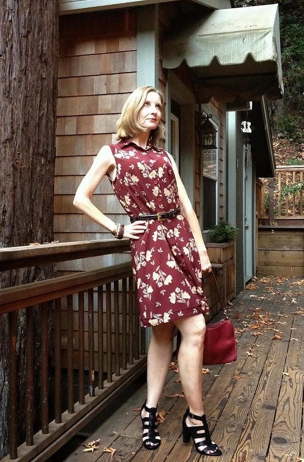printed dress | 40plusstyle.com