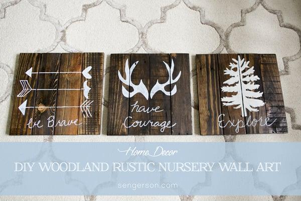 Diy Rustic Woodland Boy Nursery Decor