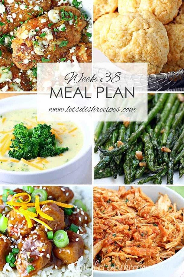 Weekly Meal Plan 38