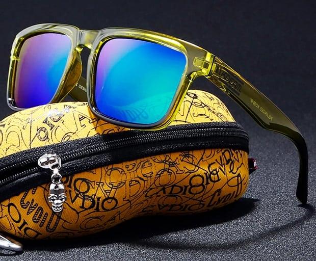 AliExpress fake sunglasses Cheap replica shades aviator glasses Sun UV Rayban Multi color Shiny Gold with case Oculos De Sol 1