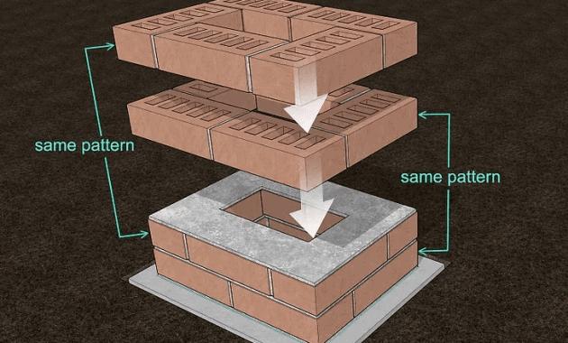 PORCH COLUMN BRICK BUILDING STEP BY STEP