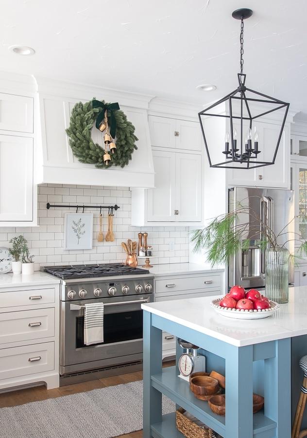 Christmas kitchen decor.
