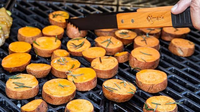 Joe Thomas Grilled Sweet potatoes