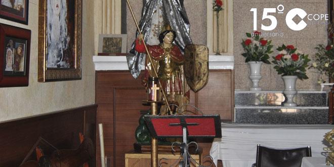 Imagen de San Miguel fallidamente restaurada